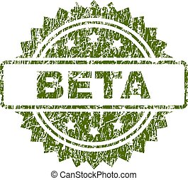 Grunge Textured BETA Stamp Seal