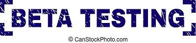 Grunge Textured BETA TESTING Stamp Seal Inside Corners