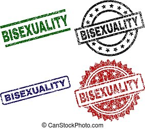 Grunge Textured BISEXUALITY Seal Stamps