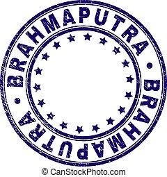 Grunge Textured BRAHMAPUTRA Round Stamp Seal - BRAHMAPUTRA...