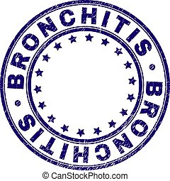 Grunge Textured BRONCHITIS Round Stamp Seal
