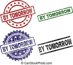 Grunge Textured BY TOMORROW Seal Stamps