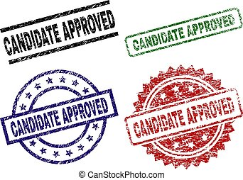Grunge Textured CANDIDATE APPROVED Seal Stamps