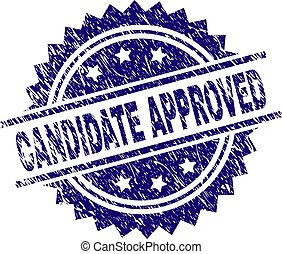 Grunge Textured CANDIDATE APPROVED Stamp Seal