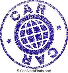 Grunge Textured CAR Stamp Seal