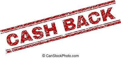 Grunge Textured CASH BACK Stamp Seal