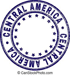 Grunge Textured CENTRAL AMERICA Round Stamp Seal