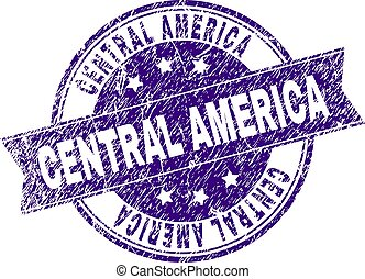 Grunge Textured CENTRAL AMERICA Stamp Seal