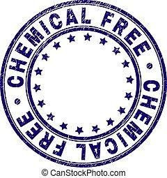 Grunge Textured CHEMICAL FREE Round Stamp Seal