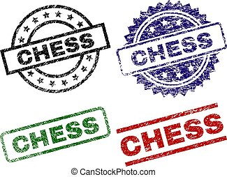 Grunge Textured CHESS Seal Stamps