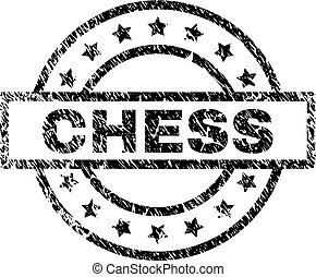 Grunge Textured CHESS Stamp Seal