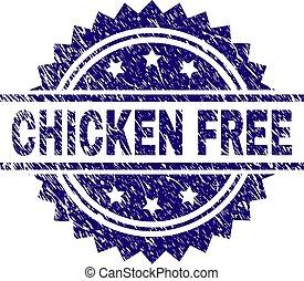 Grunge Textured CHICKEN FREE Stamp Seal