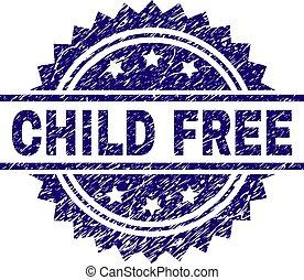 Grunge Textured CHILD FREE Stamp Seal