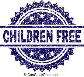 Grunge Textured CHILDREN FREE Stamp Seal