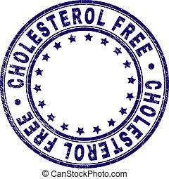 Grunge Textured CHOLESTEROL FREE Round Stamp Seal