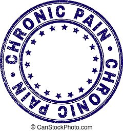 Grunge Textured CHRONIC PAIN Round Stamp Seal - CHRONIC PAIN...