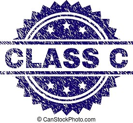 Grunge Textured CLASS C Stamp Seal