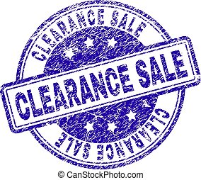 Grunge Textured CLEARANCE SALE Stamp Seal