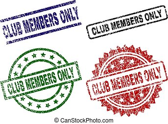 Grunge Textured CLUB MEMBERS ONLY Seal Stamps