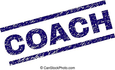 Grunge Textured COACH Stamp Seal