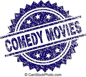 Grunge Textured COMEDY MOVIES Stamp Seal