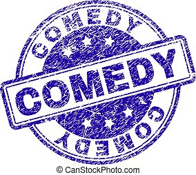 Grunge Textured COMEDY Stamp Seal