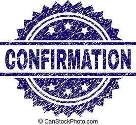 Grunge Textured CONFIRMATION Stamp Seal - CONFIRMATION stamp...