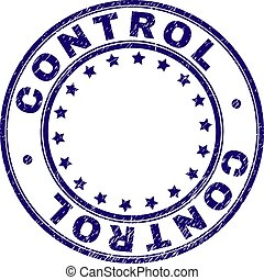 Grunge Textured CONTROL Round Stamp Seal - CONTROL stamp...