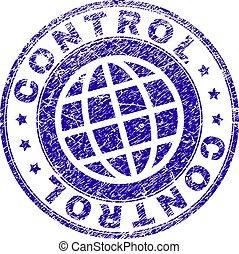 Grunge Textured CONTROL Stamp Seal - CONTROL stamp print...