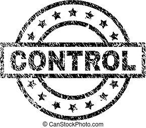 Grunge Textured CONTROL Stamp Seal - CONTROL stamp seal...