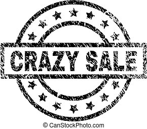 Grunge Textured CRAZY SALE Stamp Seal