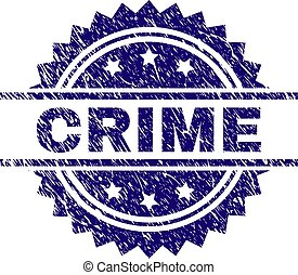 Grunge Textured CRIME Stamp Seal