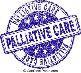grunge, textured, cuidado paliativo, selo, selo