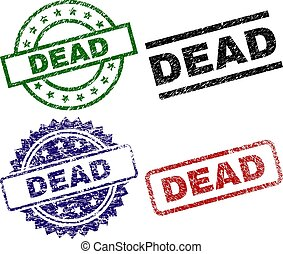 Grunge Textured DEAD Seal Stamps
