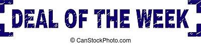Grunge Textured DEAL OF THE WEEK Stamp Seal Between Corners