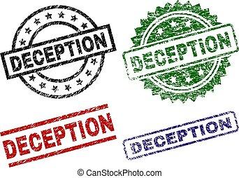 Grunge Textured DECEPTION Stamp Seals - DECEPTION seal...