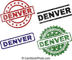 Grunge Textured DENVER Seal Stamps