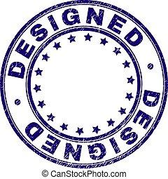Grunge Textured DESIGNED Round Stamp Seal