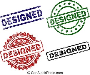 Grunge Textured DESIGNED Stamp Seals
