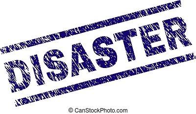 Grunge Textured DISASTER Stamp Seal - DISASTER seal print...