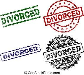 Grunge Textured DIVORCED Seal Stamps