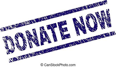 Grunge Textured DONATE NOW Stamp Seal