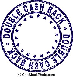 Grunge Textured DOUBLE CASH BACK Round Stamp Seal