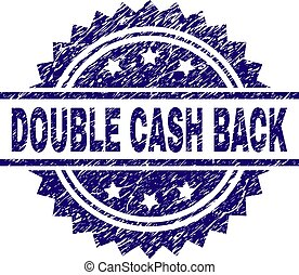 Grunge Textured DOUBLE CASH BACK Stamp Seal