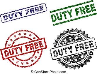 Grunge Textured DUTY FREE Stamp Seals