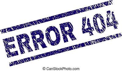 Grunge Textured ERROR 404 Stamp Seal