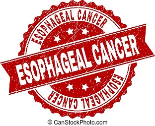 Grunge Textured ESOPHAGEAL CANCER Stamp Seal