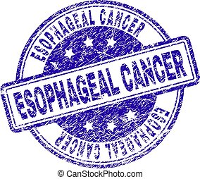 Grunge Textured ESOPHAGEAL CANCER Stamp Seal