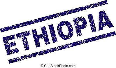 Grunge Textured ETHIOPIA Stamp Seal