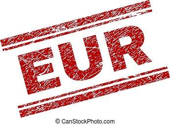 Grunge Textured EUR Stamp Seal